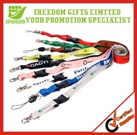 Promotional Cheap Custom Polyester Lanyards No Minimum Order