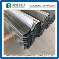 Agricultural Galvanized Steel Glass Greenhouse Gutter
