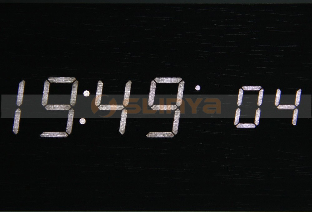 Led Wooden Clock Thermometer Digital Clock Sounds Control LED Display Table Clocks
