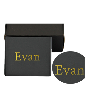 Luxury Custom Logo Printed Black Corrugated Shipping Mailer Box for Clothes