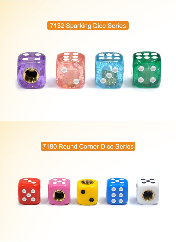 BYC Creative White Dice Design Bicycle Accessories