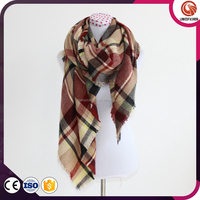 wholesale winter Thick Plaid tartan Scarf and Shawl