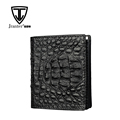 Handmade Luxury Genuine Caiman Crocodile Leather Men Card Wallet
