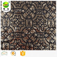 new arrival 100 polyester sequin mesh embroidery lace fabric