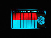 electroluminescent equalizer panel for t-shirt