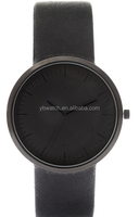 new trendy fancy common three hands matte black watch from yangbin factory
