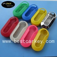 Cheaper price car key shell key blank case in colors for fiat 500 key cover
