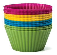 Never Buy Paper Cups Again 12 pack Silicone Baking Cups
