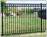 Hot sale galvanised tubular steel fencing