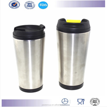 New desigen double stainless steel coffee tumbler travel mug auto mug