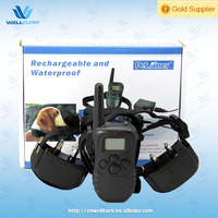 Rechargeable 1 For 2 Dog Shocking Pet Collar With Lcd Display
