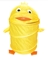 Kid's Storage Organization Pop-up Laundry Hamper, Duck, Large