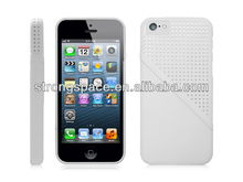Clear hard hole case for iphone 5c by China supplier