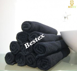 Durable cotton Beauty Salon Fade resistant Black Barber towel