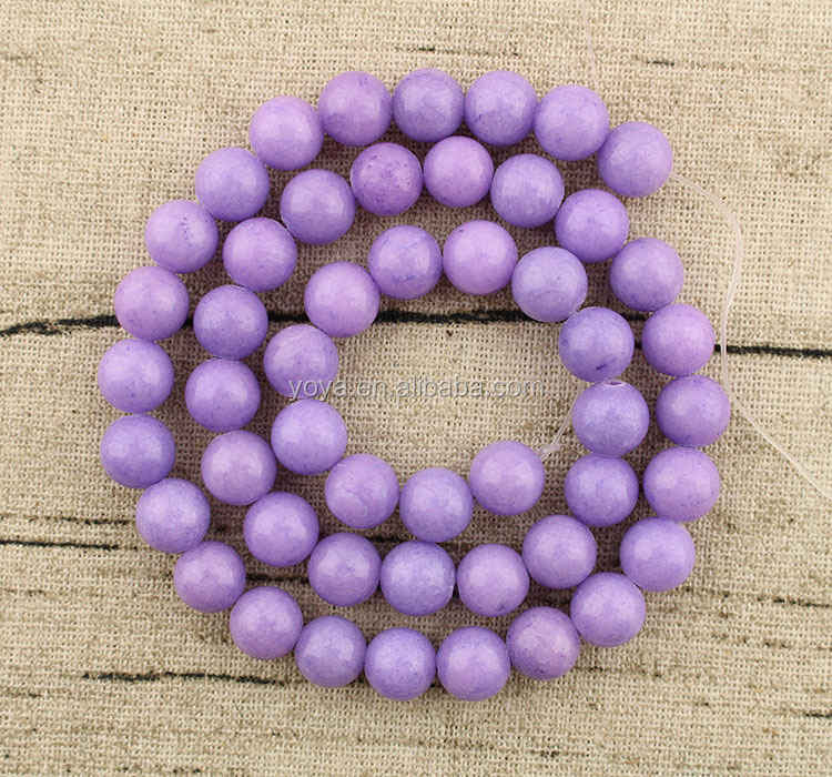 MJ1024 wholesale 8mm smooth lavender Mashan jade semi precious round lose beads