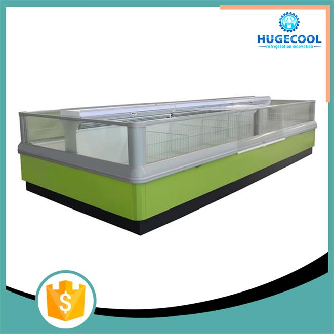 supermarket Refrigeration island freezer with freezer cabinet