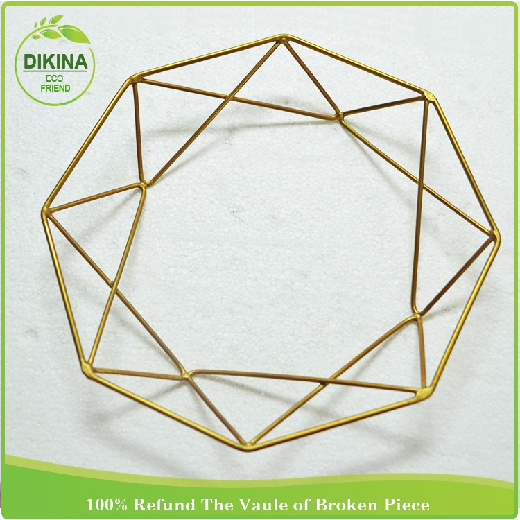 New !! Luxury Design hexagon dry fruit mirror glass brass servings -> party & wedding decorative trays for indian wedding