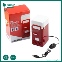 USB with Switch mini car and home cooler box Red Fridge