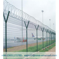 High quality cheap galvanized and PVC Y post razor barbed wire fence (Factory Price)