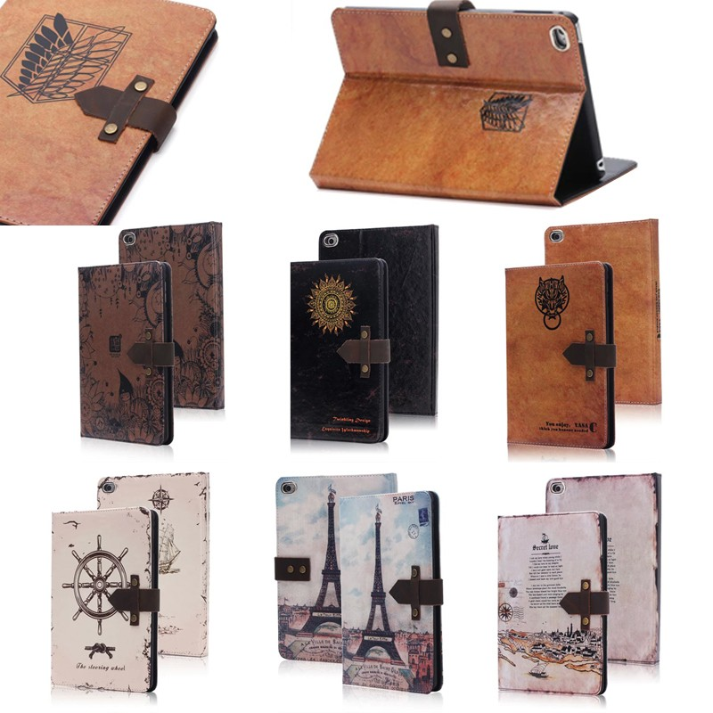 UK Vintage Style Leather tablet case for ipad mini 4, for ipad mini 4 case with belt clip