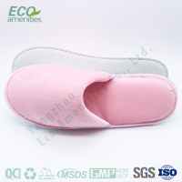 Wholesale popular soft pink hotel slipper for woman is slipper