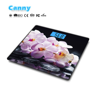 Fashion design high quality bathroom scale with large platform of 300x300x6mm CE and RoHs certificate