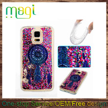 for Samsung Galaxy S5 Glitter Liquid TPU Back Case Soft Android Phone Case