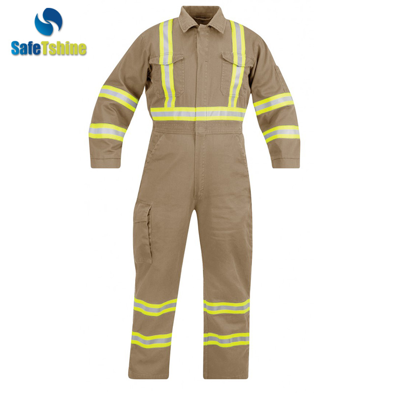 Reflective safety flame coveralls fire retardant clothing