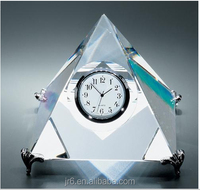 crystal pyramid clock /crystal pyramid shaped paperweight/egypt crystal pyramid