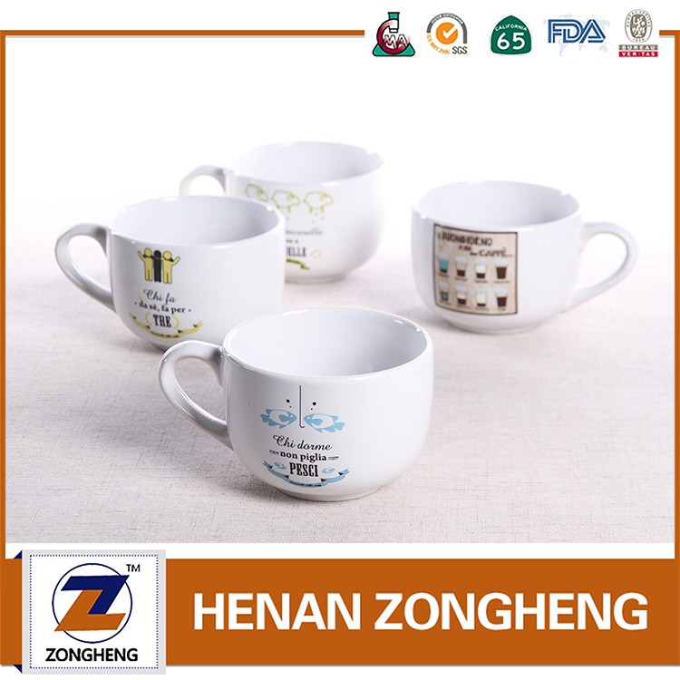 13oz coffee cups ceramic designer mugs white