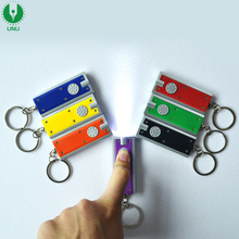 Cheap Promotion Led Flashing Keychain, Led Keyring, Glowing Key Chain With Custom Logo