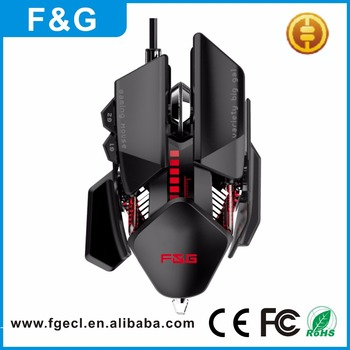 2017 new design length adjustable wired usb 7D optical gaming mouse