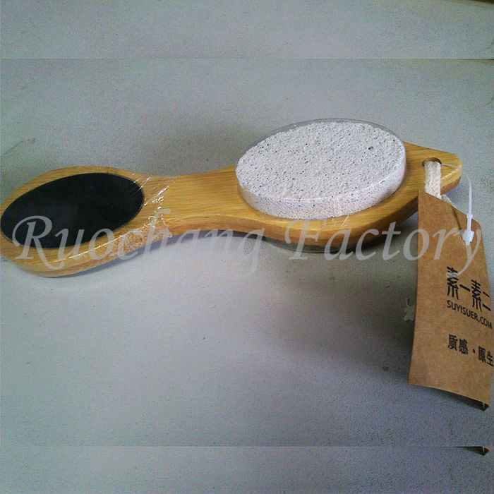 Wooden Foot Shape Callus Remover & Pedicure Foot File