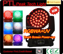 China pointe moving heads 36*18w rgbwa uv 6in1 moving head wash zoom robe light