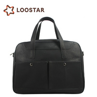 New Design Customized Business Office Men PU Leather Briefcase Executive Laptop Hand Bags for Lawyer with Secret Compartment
