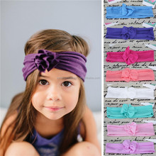 Cute baby headband cotton elastic fabric baby headband bow knot flower baby headband for girls