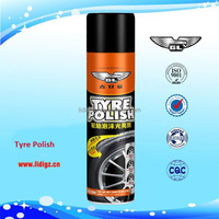 Chinese manufacturer tire shine spray car polish products