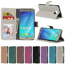 Fashion Retro Scrub PU Leather Case For Samsung Galaxy S4 SIV I9500 Cover Cases Card Slots Wallet