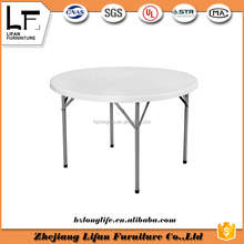 115cm round folding plastic outdoor white table and chair tops