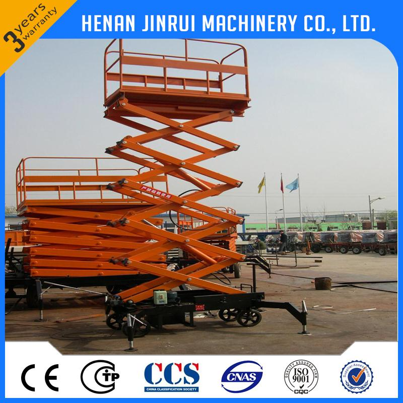 Electric Foot Pump Materials Handling High Lifting Platform Truck