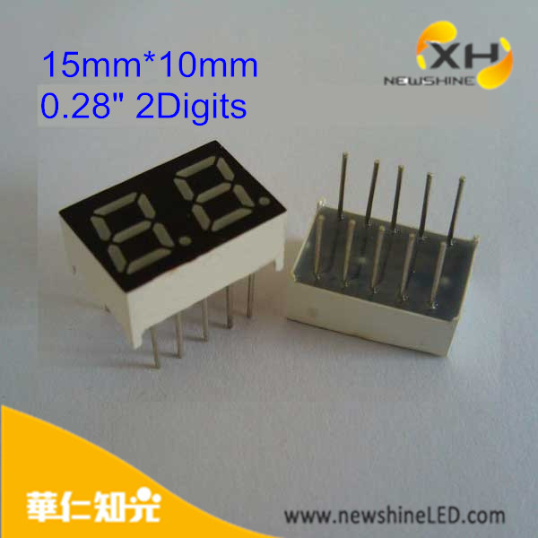 0.28 Inch Numberic Dual Digits Led Digital 7-Segment Display