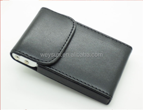 Fashion Business Name ID Credit Card Mini Box Pocket Wallet Case Holder photo clip holder