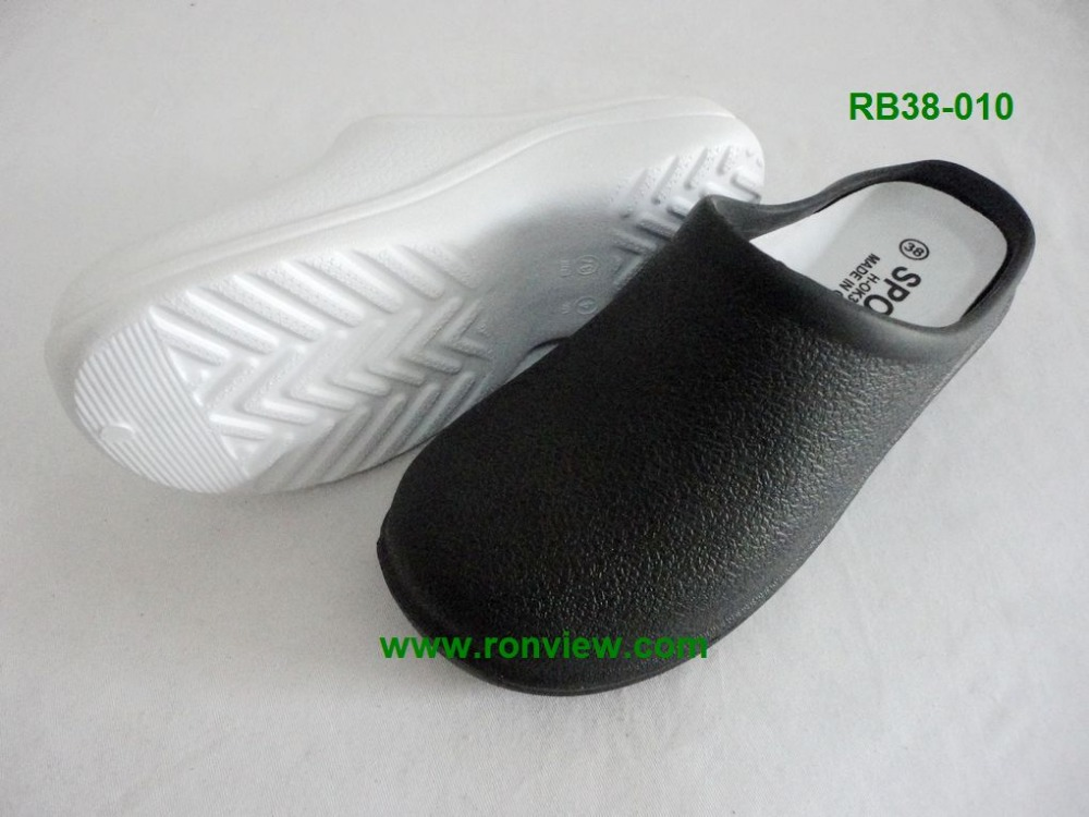 white & black eva chef clogs , eva garden clogs