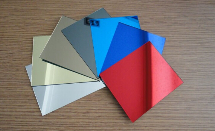 High quality acrylic bathroom mirror, color mirror acrylic sheet, reflective acrylic mirror