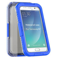 Waterproof Silicone Membrane Screen Protector+PC Bumper Case for Samsung S7/ G9300