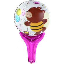 50*30CM inflatable Bang Bang stick foil balloon cheer stick cartoons hand holder balloon bear balloon