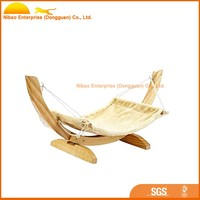 2016 wood hanging hammock swing bed for cat
