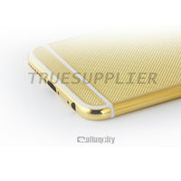 Middle plate Gold for iphone 6, 24kt gold grid bezel housing(Mobile Phone Housings )