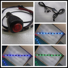 Car atmosphere el wires glow dimmable car interior led lights