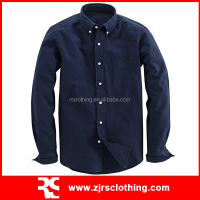 Mens Cotton Oxford Casual Shirt Long Sleeve Shirt with Pocket